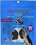 Medium Paw Savers, Disposable Dog Paw Pads, (33-44 lbs) 24 Pieces