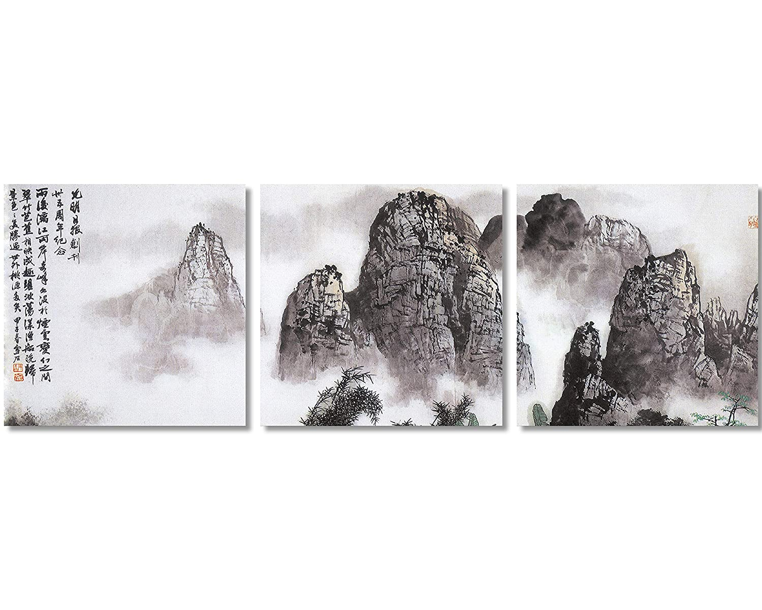 9afc0f4d9 QICAI Chinese Landscape Paintings Prints On Canvas Chinese Canvas Art  Landscape The Picture Traditional Chinese Art Prints Famous Chinese Landscape  Painting ...