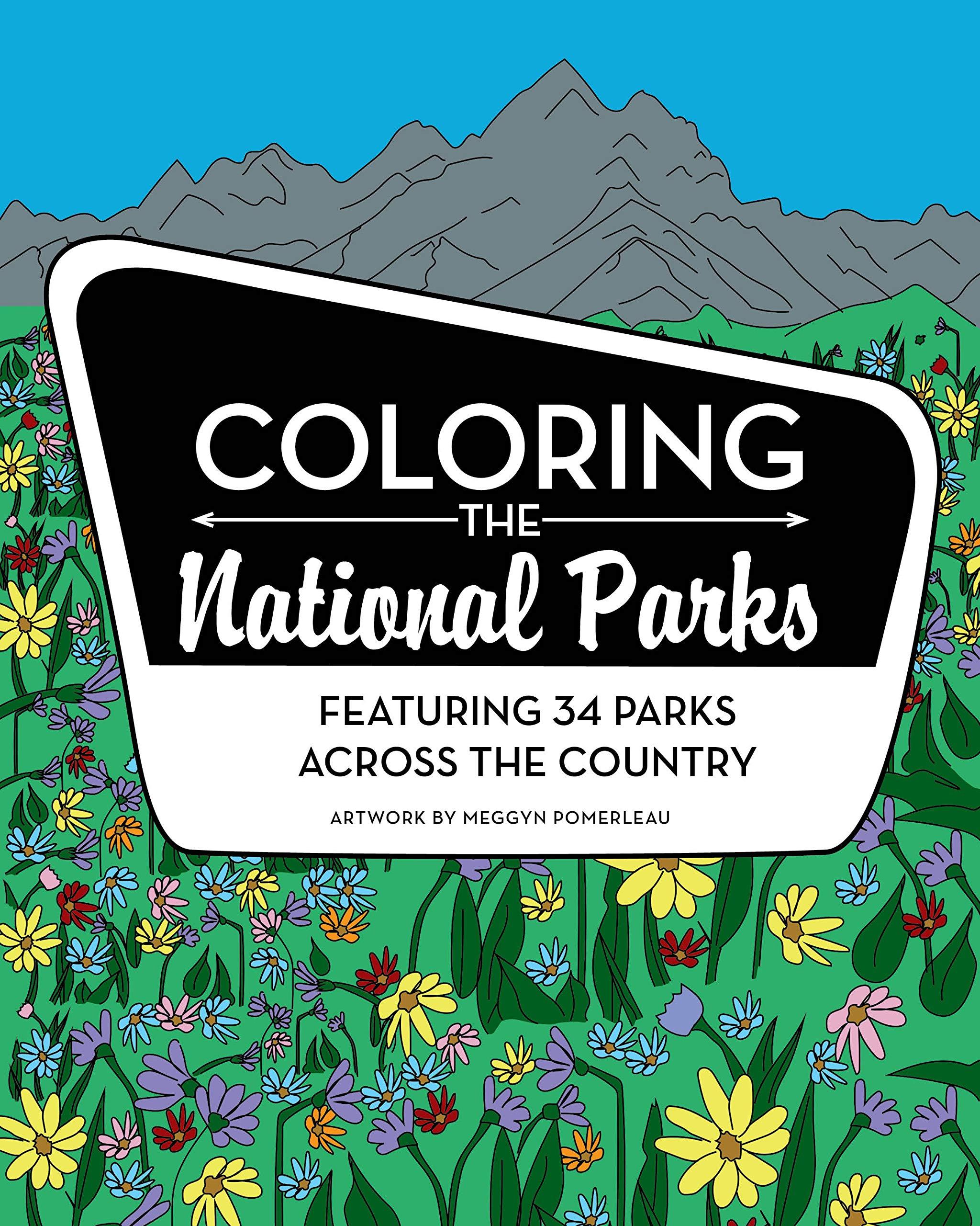 Coloring the national parks meggyn pomerleau 9781513261942 amazon
