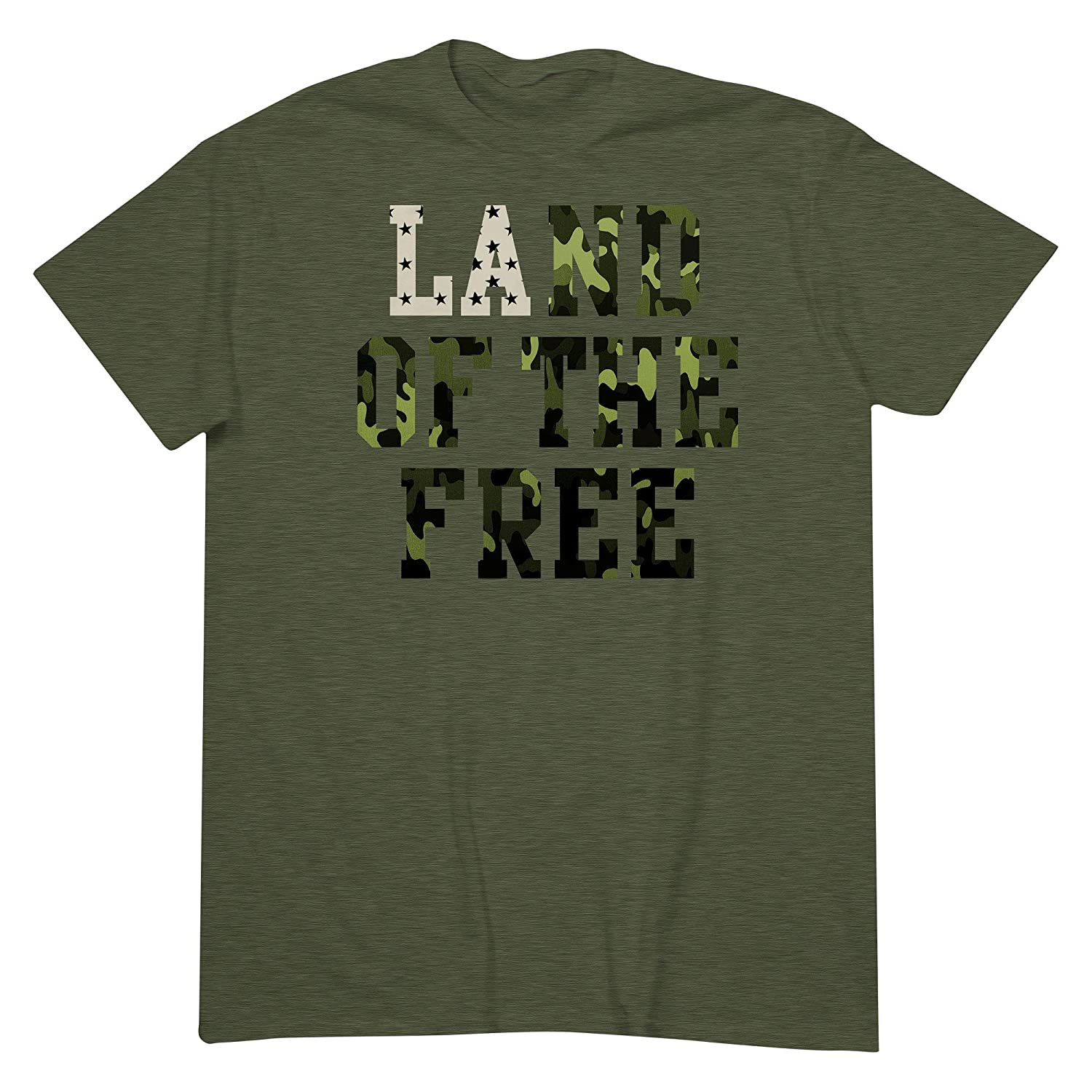 aa59f6ee Amazon.com: Men's Land of the Free T-Shirt Green - Mossimo Supply Co Dark  Badge Green (Small): Clothing