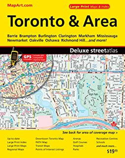 Greater Toronto Wall Map Street Detail Extra Large 80 x 50
