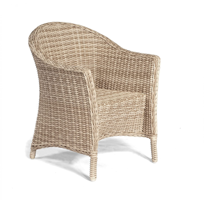 Sonnenpartner Gartenstuhl Sessel Modell Bellevue Farbe antik weiß 80070210