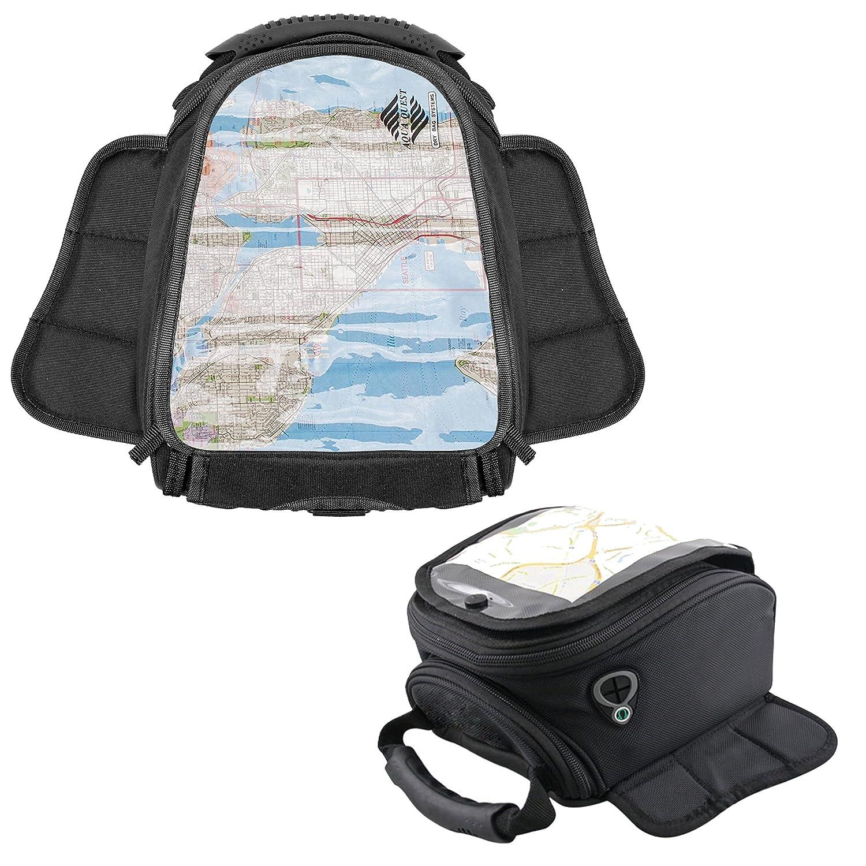 Lions® Motorbike Magnetic Tank Bag Motorcycle Map Window Pannier Moto Luggage GPS/Phone