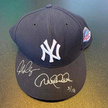 6f5c013d74f Beautiful Derek Jeter   Alex Rodriguez Signed Yankees Hat MLB ...