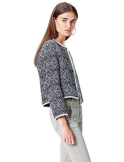 054d910f76b FIND Women's Jacquard Cropped Jacket: Amazon.co.uk: Clothing