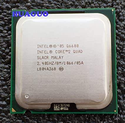 Intel Core 2 Quad Q6600 2.4 GHz Quad-Core CPU Processor SLACR LGA 775 8M Cache Components at amazon