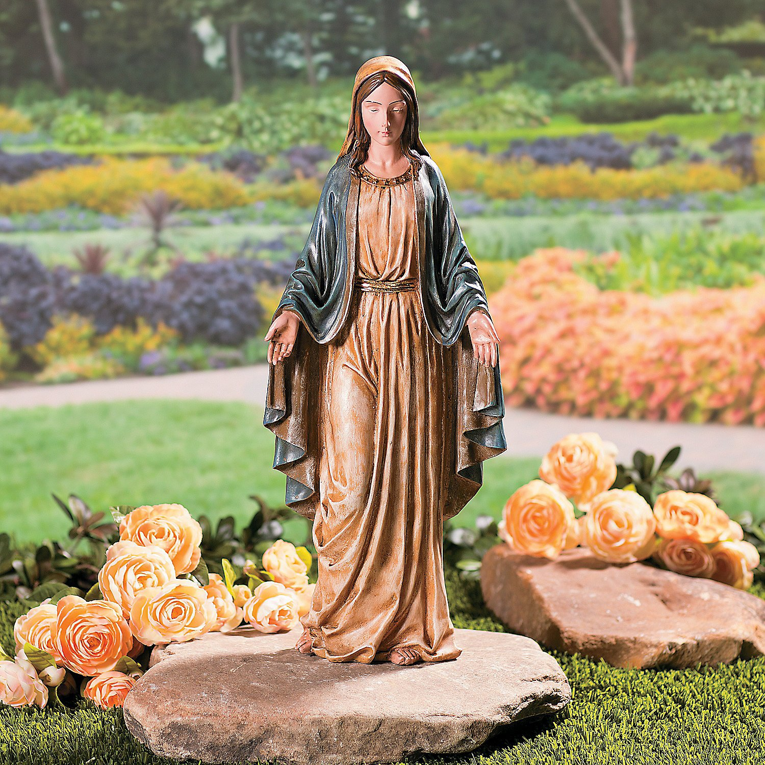 Fun Express Blessed Virgin Mary Garden Statue (19 1/2 Inch Tall) Painted