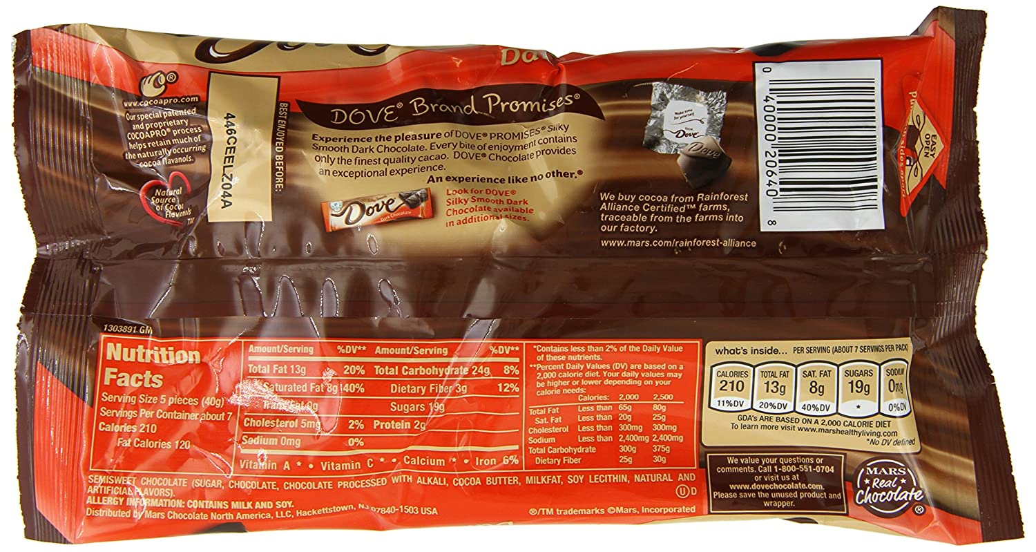 Amazon.com : Dove Dark Chocolate Promises, 9.5-Ounce Packages ...