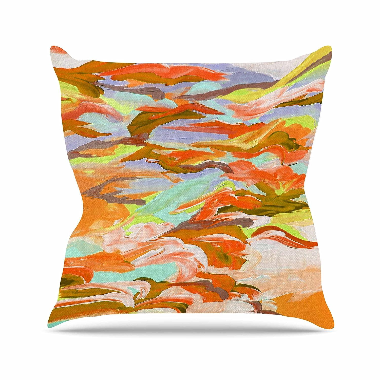 26 by 26 Kess InHouse EBI Emporium Still Up in The Air 5 Yellow Orange Throw Pillow