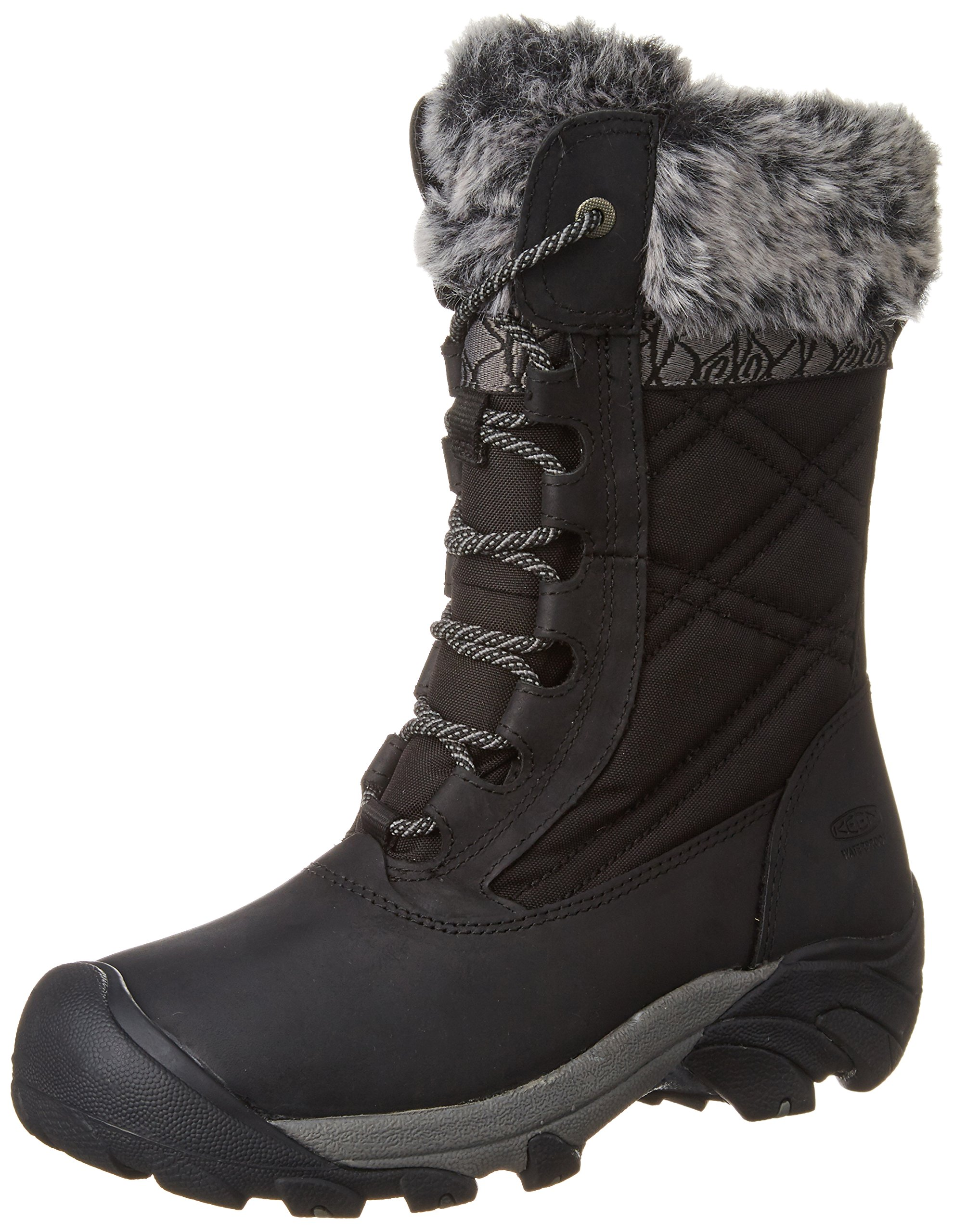 KEEN Women's Hoodoo III Winter Boot, Black/Gargoyle, 9 M US