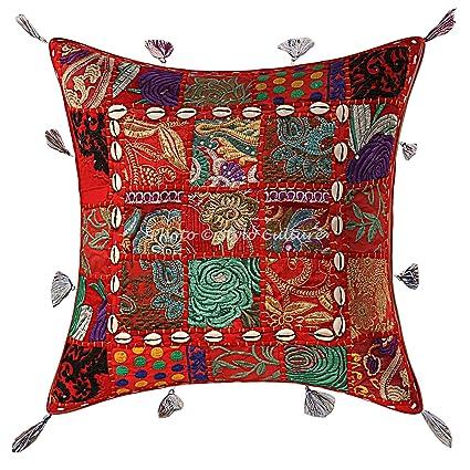 Amazon.com: Stylo Culture Indian Decorative Throw Pillow 40 ...