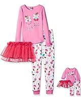 Dollie & Me Girls' Dancing Ballerinas Tutu Snugfit Sleepwear Set