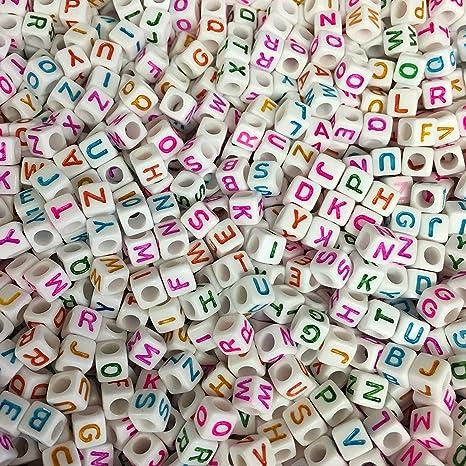 06657015870a Goodluck y365 500 Letra Perlas mehrfärbige Letras de la a a la Z Letras  Blanco acrylat Letras