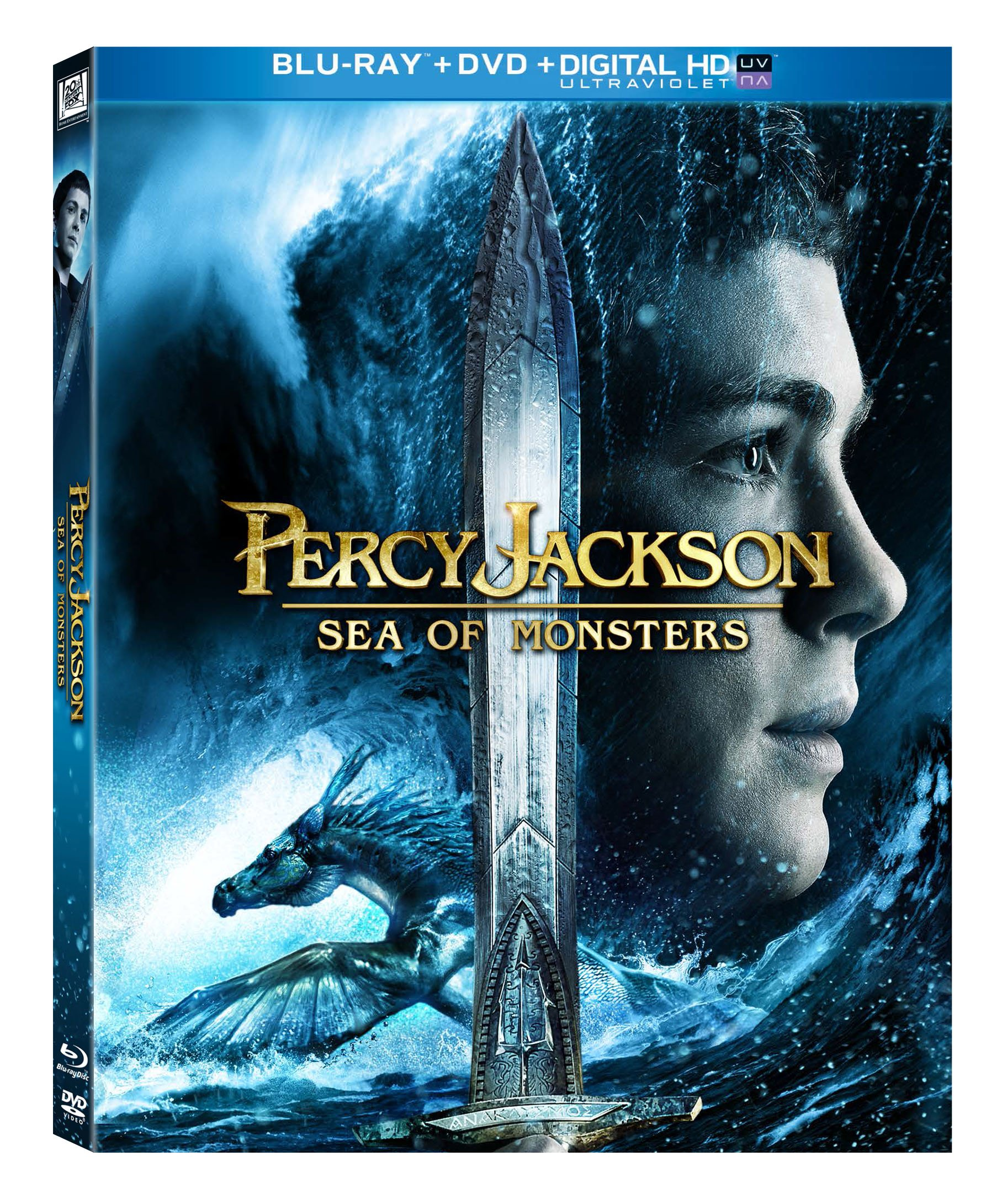 Blu-ray : Percy Jackson: Sea Of Monsters (With DVD, Ultraviolet Digital Copy, Widescreen, Digital Theater System, AC-3)