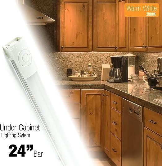 "Energy Efficient 24"" Plug-in LED Premium Soft Warm White Undercabinet Light"