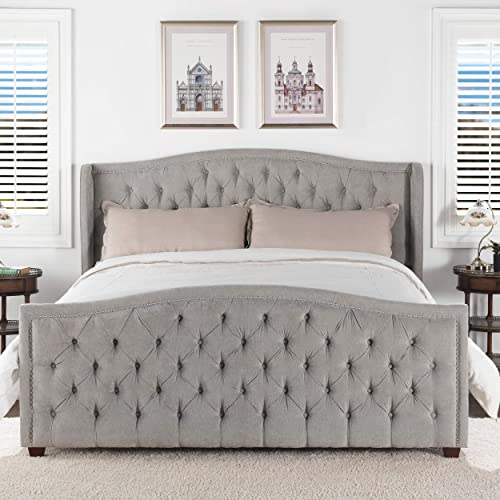 Jennifer Taylor Home Marcella Tufted Wingback King Bed