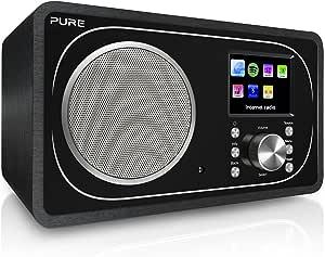 Pure Evoke F3 Internet DAB/DAB+ Digital and FM Radio, Internet Radio/Digital Radio with Spotify Connect and Bluetooth, Black