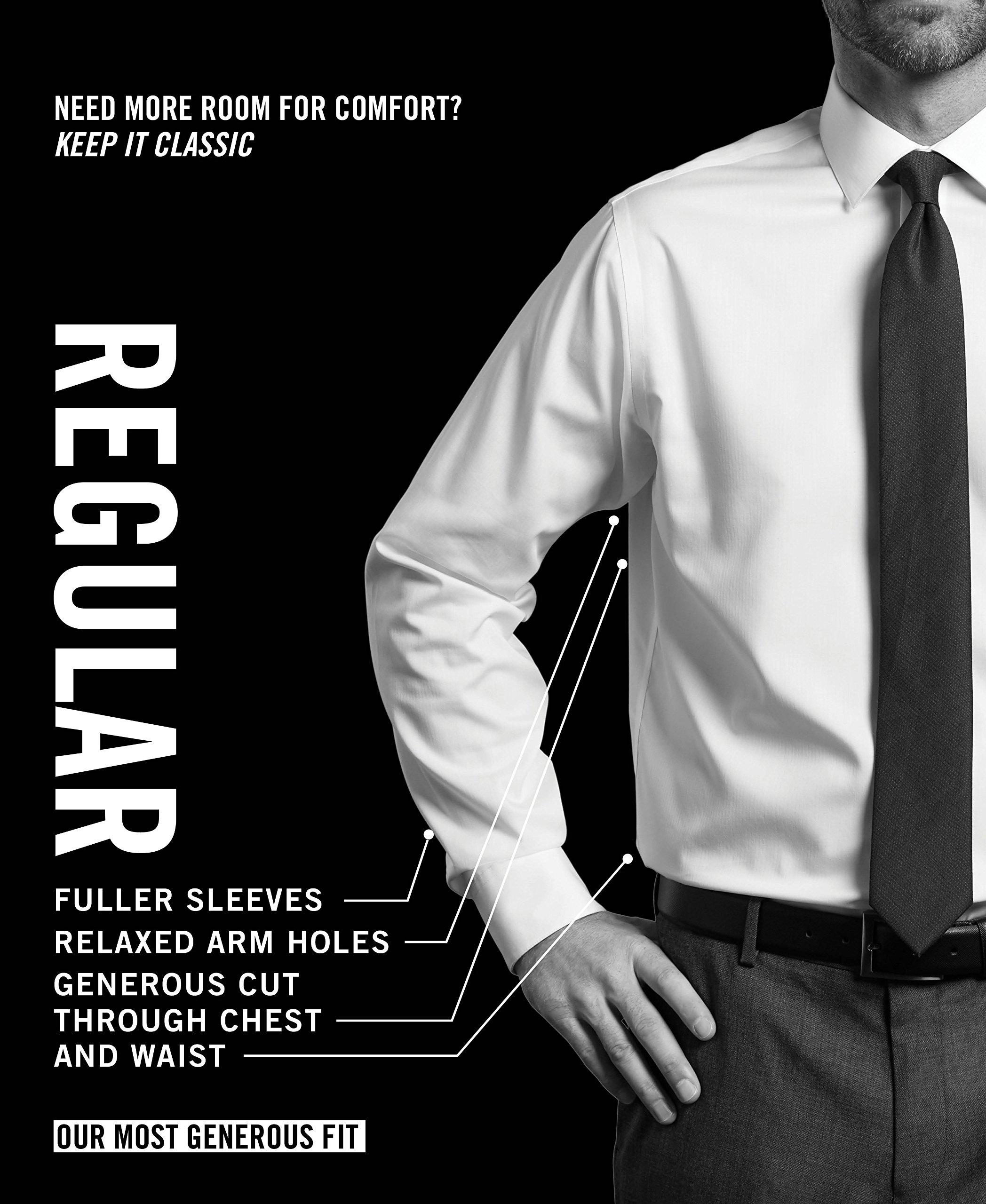 Van Heusen Men's Flex Collar Regular Fit Solid Spread Collar Dress Shirt, White, 16.5'' Neck 32''-33'' Sleeve by Van Heusen (Image #7)