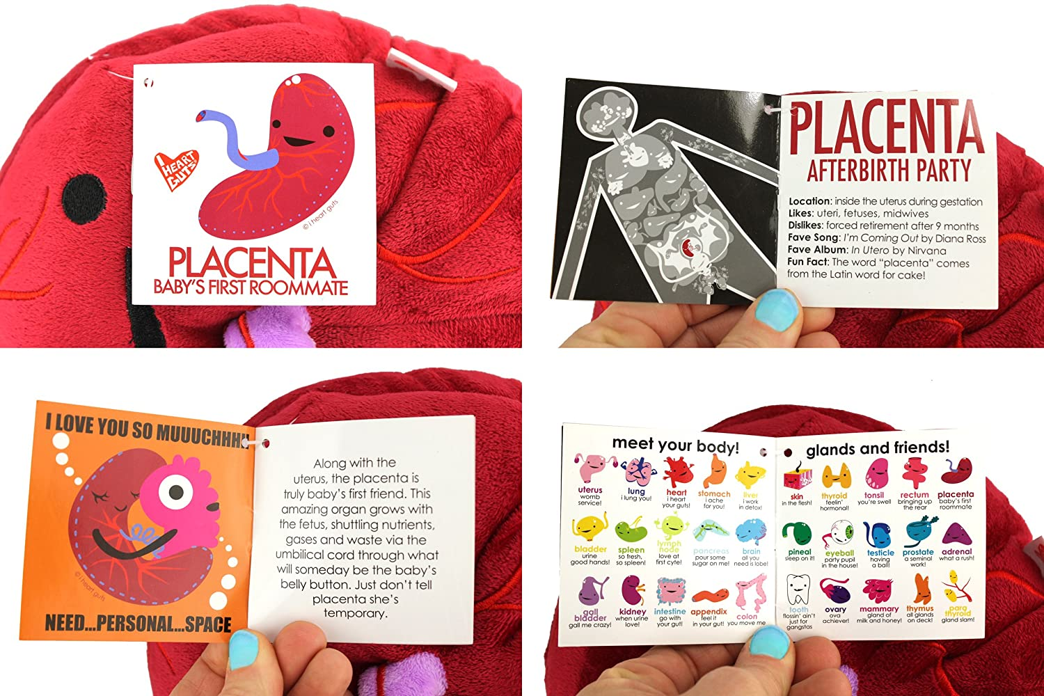 Placenta Baby's First Roommate Designer Plush Figure I Heart Guts by ...