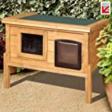 Self Heating Cat Kennel with One Way Privacy Window Fully Assembled