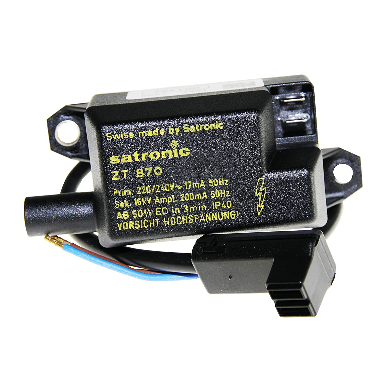 Ignition Transformer Honeywell SATRONIC ZT 870 Code 13000U Heatservice