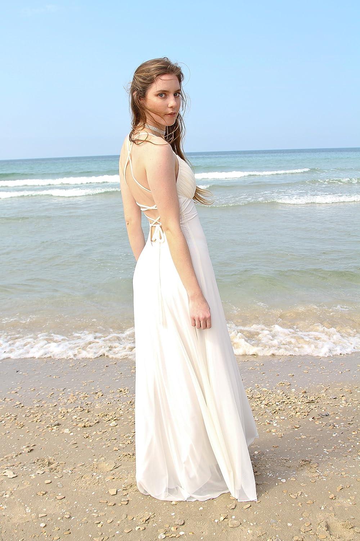 Amazon Com Ivory Wedding Dress Women Long Maxi Evening Dress For