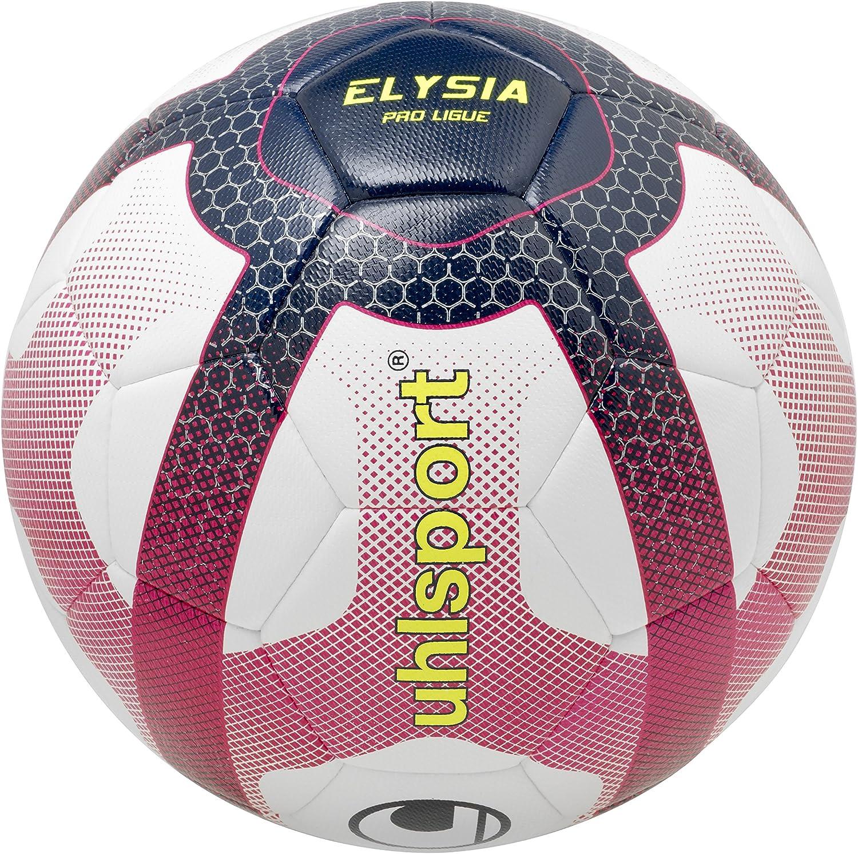 uhlsport – Elysia Pro Liga – Balón Fútbol – Design Liga 1 – Cosida Mano – Blanco/Azul Marino/Fucsia: Amazon.es: Deportes y aire libre