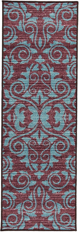Boarders Rugs Contemporary Design Non-Skid, Rubber Backed Area Rug (20'x59')