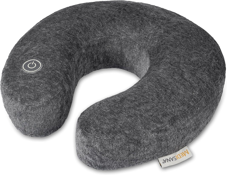 Medisana NM 870 Masajeador de cuello con masaje vibratorio, media luna para el cuello ideal para el hogar, la oficina o de camino, calmante para el cuello y los hombros