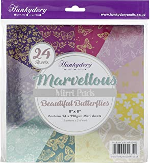 Hunkydory Crafts MPAD014 Hunkydory Marvellous Mirri 8X8 Paper Pad 24//Pkg-Lovely Lace 12 Colors//2 Each Each,