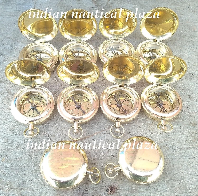 Shaheera Nautical真鍮トーンDalveyスタイル真鍮コンパスWholesale Lot of 10 pcsクリスマスギフト B07BRM4DYC