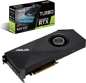 ASUS GeForce RTX 2060 6G Turbo Edition GDDR6 HDMI DP 1.4 Graphics Card (TURBO RTX2060-6G)