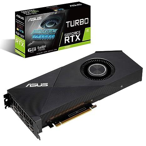 ASUS GeForce RTX 2060 6G Turbo Edition GDDR6 HDMI DP 1 4 (TURBO RTX2060-6G)