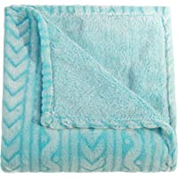 NTBAY Plush Flannel Baby Blanket, Soft and Warm Toddler Blanket with Wave Pattern for Stroller, Crib, Travel, 30 x 40…