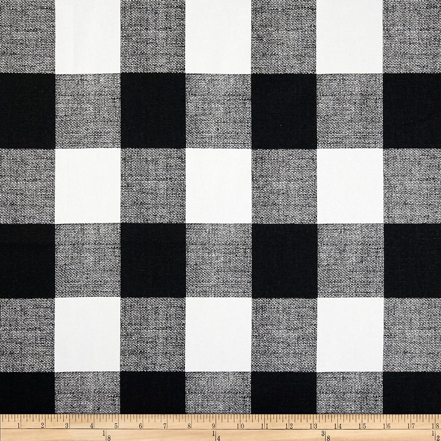 Black and white checked curtains - Amazon Com Premier Prints Anderson Check Black White Fabric By The Yard