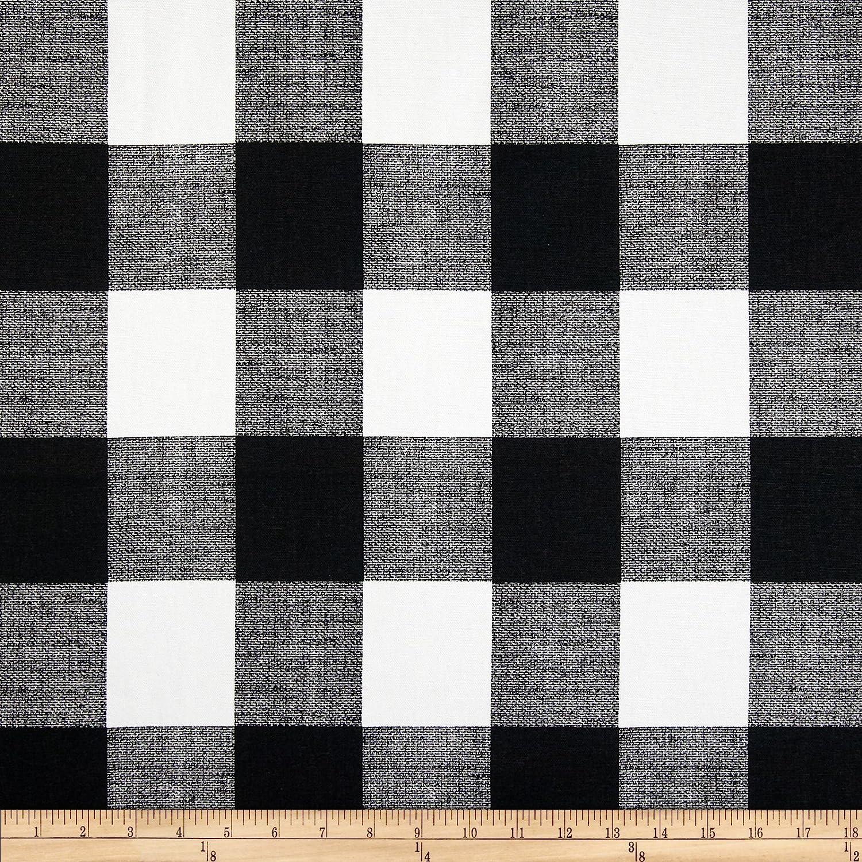 Amazon.com: Premier Prints Anderson Check Home Decor Fabric Black ...