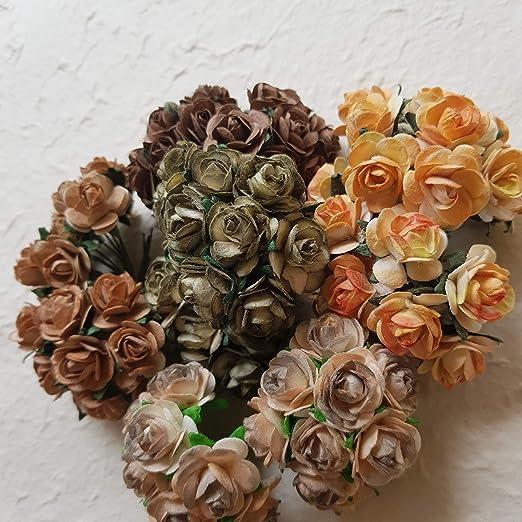 NEW Scrapbooking Cards BRADS FLOWER Mixed Colours Bulk pk 100 Flowers