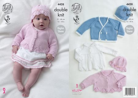 King Cole Baby Double Knitting Pattern For Matinee Coat Jacket