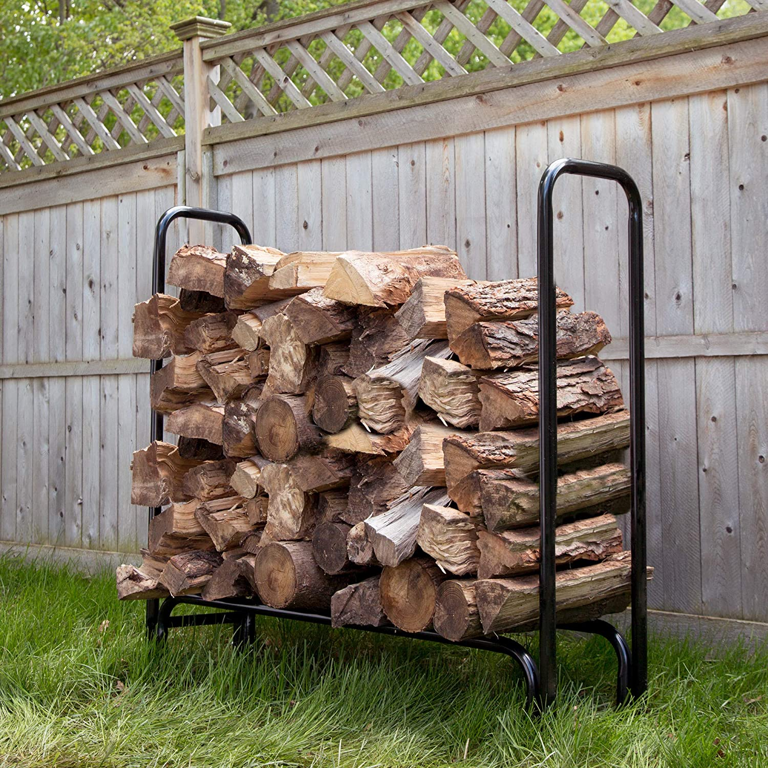 Pure Garden 50-124 Firewood Log Rack, 4