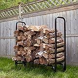 Pure Garden 50-124 Firewood Log Rack, 4'