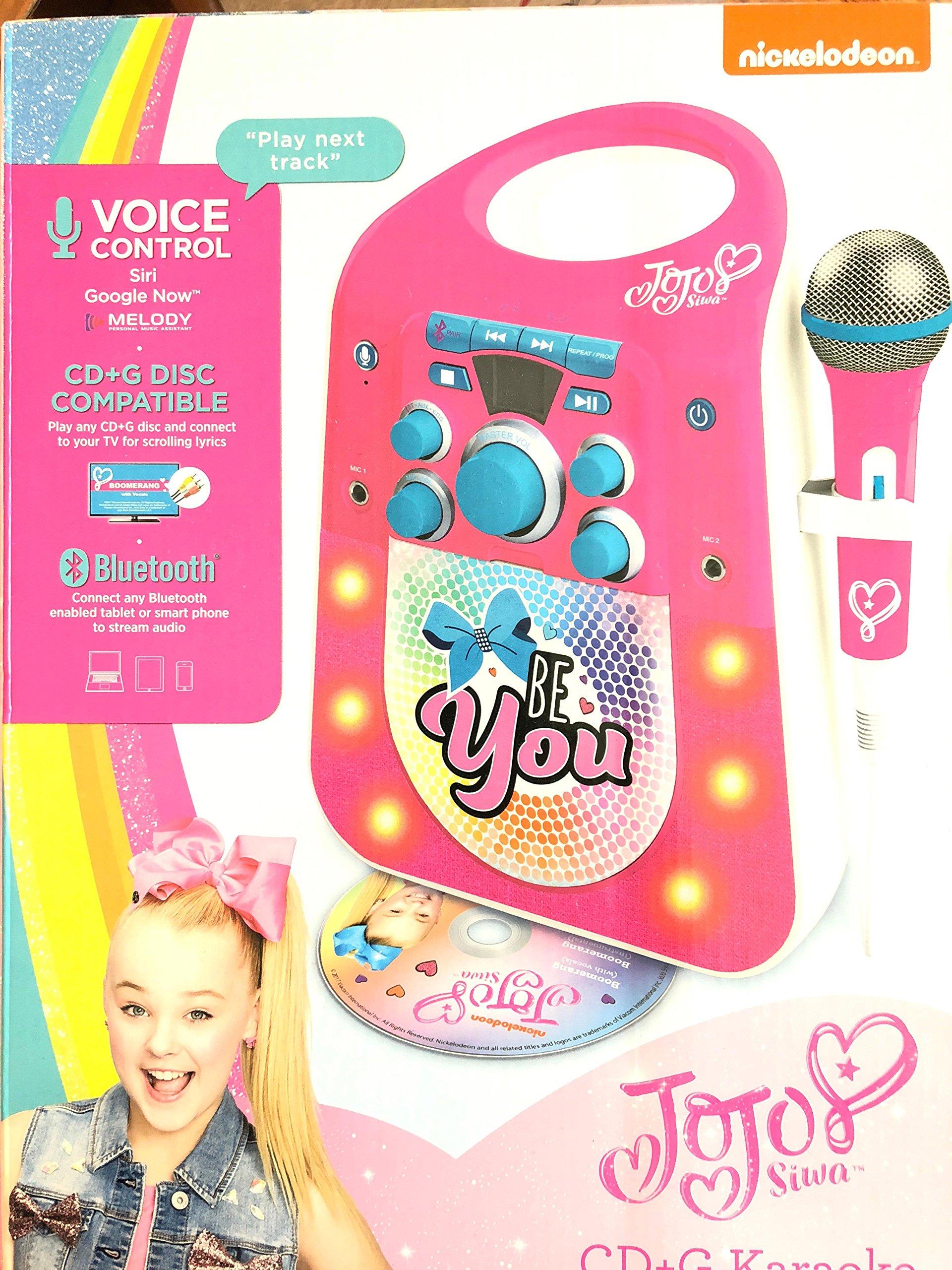 Jojo Siwa CD G Karaoke Machine with One Wired Microphone by Jojo Siwa