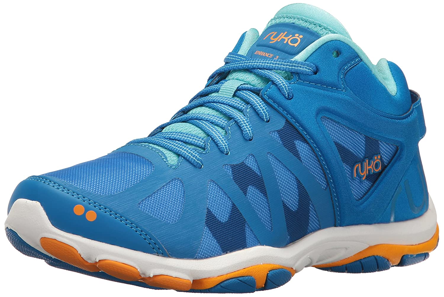 Ryka Women's Enhance 3 Cross-Trainer Shoe B01KVZ9XXS 9.5 B(M) US|Blue/Orange