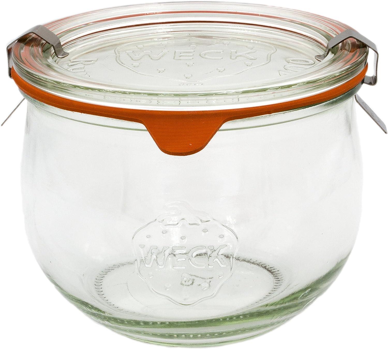 Set da 6 Guarnizione e Clips Inclusi Barattoli Corolle Kit Vaso Vetro per Conservazione Rekean Etichette offerte 220 ml Set da 6 -