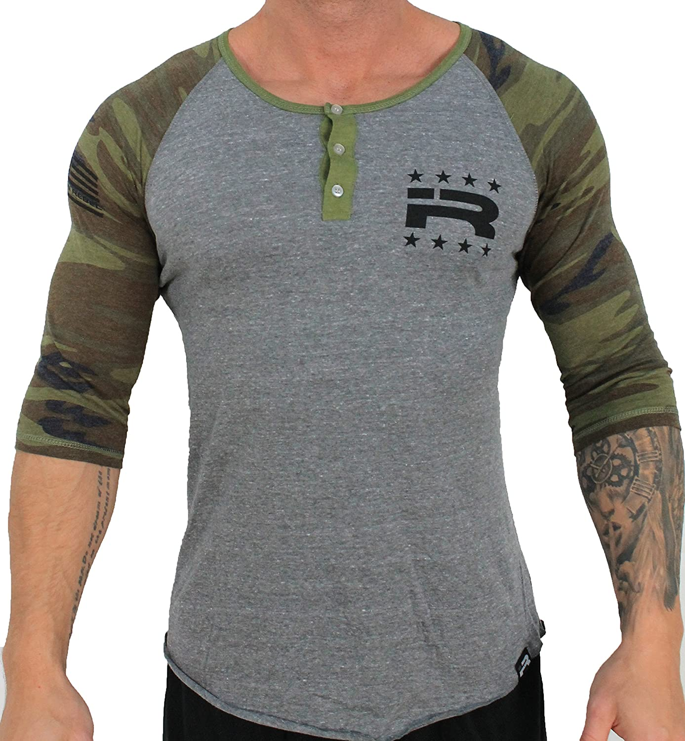 Iron Rebel - War Games Raglan (Camo)