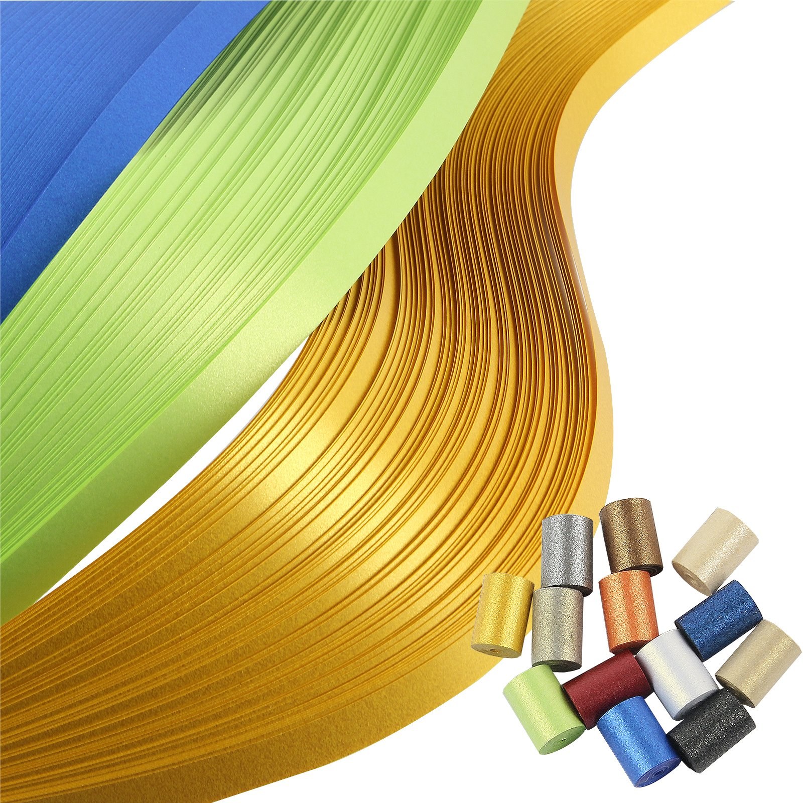 IMISNO Metallic Quilling Paper Set 5mm Width 780 Strips (13 Colors 54cm Length)