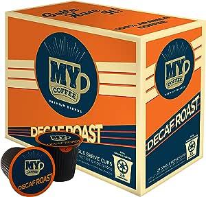 My Coffee Single Serve Coffee Pods, Decaf Dark Roast, 24 Count