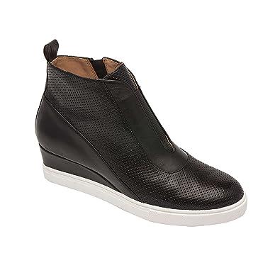 993248e5eeb8 Linea Paolo Anna | Low Heel Designer Platform Wedge Sneaker Bootie  Comfortable Fashion Ankle Boot Black
