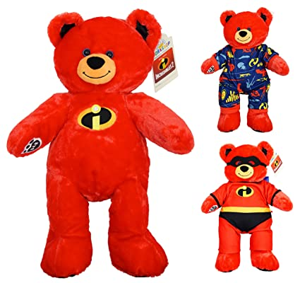 faa0d05e24f Image Unavailable. Image not available for. Color  Build A Bear Incredibles  2 15 quot  Red Stuffed Plush Bear with Costume ...