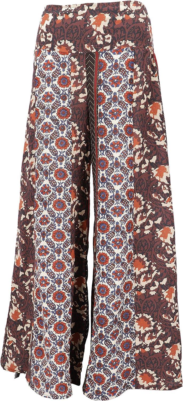 GURU-SHOP, Pantalones Palazzo Patchwork, Pantalones Hippie Chic ...