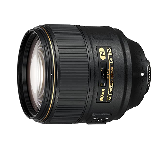 Nikon AF-S FX Nikkor 105 mm f/1.4 ED Lens with Auto Focus (Black) Camera Lenses at amazon